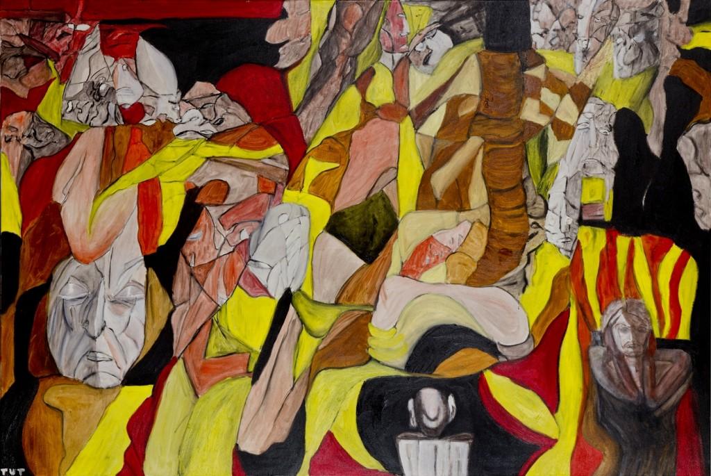 Wojciech-Tut-Chechliński-Sterowanie-światem-olej-na-płótnie-100-x-150-cm-2012-r