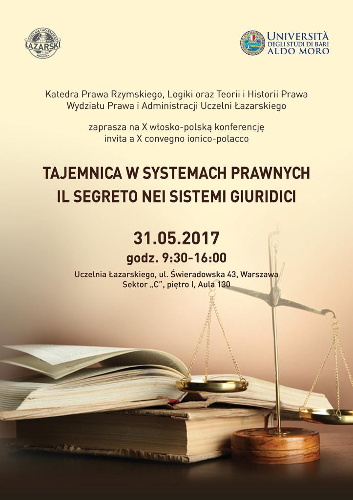 plakat_Tajemnica w systemach prawnych