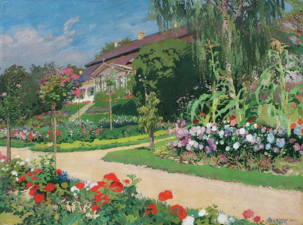JÓZEF MEHOFFER, Dworek i ogród w Jankówce, 1914. Fot. z Archiwum Domu Aukcyjnego Agra-Art
