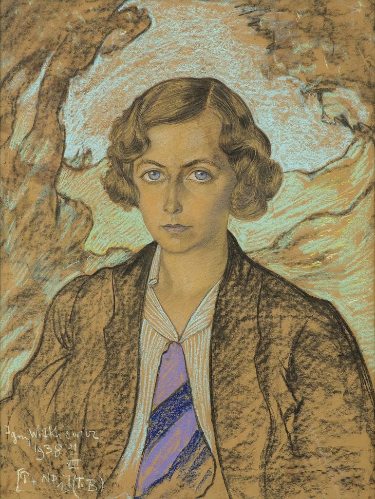 STANISŁAW IGNACY WITKIEWICZ, Portret Ireny Kanafoskiej-Dembickiej, 31 VIII 1938 , Fot. Z Archiwum Domu Aukcyjnego Agra-Art