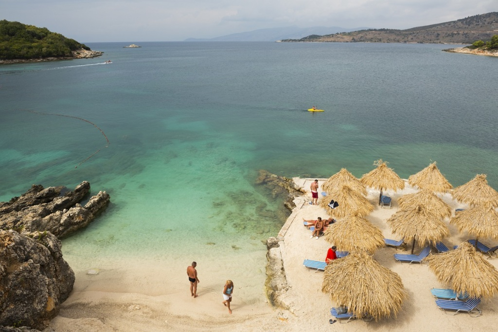 Beach in Ksamil, Albania